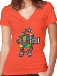 Rubiksbot Women's Fitted V-Neck T-Shirt