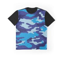 Camouflage (Blue) Graphic T-Shirt