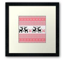 Cute Norwegian knitted pattern Framed Print
