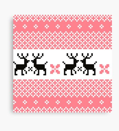 Cute Norwegian knitted pattern Canvas Print