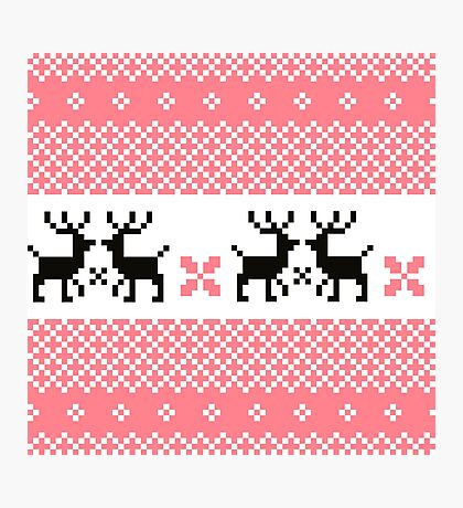 Cute Norwegian knitted pattern Photographic Print