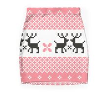 Cute Norwegian knitted pattern Mini Skirt