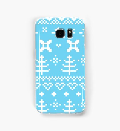 Traditional winter knitted pattern Samsung Galaxy Case/Skin