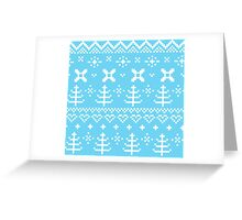 Traditional winter knitted pattern Greeting Card