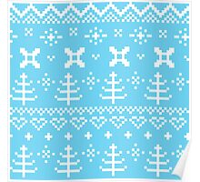 Traditional winter knitted pattern Poster