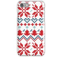 Winter christmas pattern Inspired by Slovakia iPhone Case/Skin