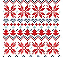 Winter christmas pattern Inspired by Slovakia Photographic Print