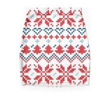 Winter christmas pattern Inspired by Slovakia Mini Skirt