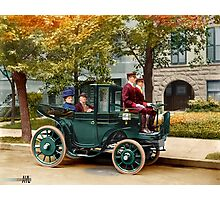Colorized Sen Wetmore & Wife in a Kreiger Electric Landaulet 1906 Photographic Print