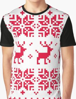 Christmas knitted edition with Reindeers Graphic T-Shirt