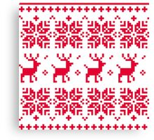 Christmas knitted edition with Reindeers Canvas Print