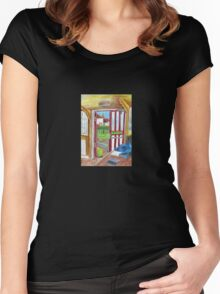 Escape on Saturday Morning Women's Fitted Scoop T-Shirt