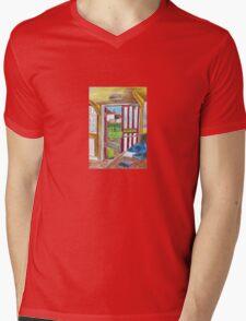 Escape on Saturday Morning Mens V-Neck T-Shirt