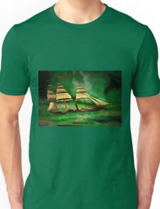 An Early American Sailing Ship/Paddle Steamer Unisex T-Shirt
