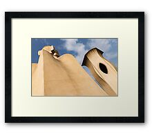 Whimsical Chimneys - Antoni Gaudi Smooth Shapes and Willowy Curves - Left Framed Print