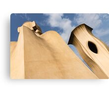 Whimsical Chimneys - Antoni Gaudi's Smooth Shapes and Willowy Curves - Left Canvas Print