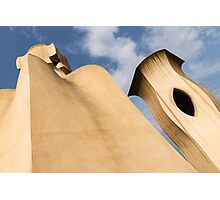 Whimsical Chimneys - Antoni Gaudi's Smooth Shapes and Willowy Curves - Left Photographic Print