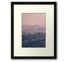 Toscana Sonnenuntergang Framed Print