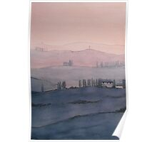 Toscana Sonnenuntergang Poster