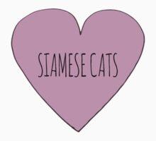 Siamese cat love One Piece - Short Sleeve