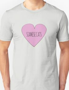 Siamese cat love Unisex T-Shirt