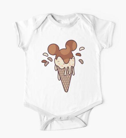 Chocolate Mickey Icecream Splash One Piece - Short Sleeve