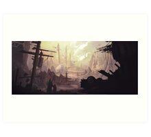 Wasteland Journey- The City of Iraxes Art Print