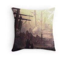 Wasteland Journey- The City of Iraxes Throw Pillow