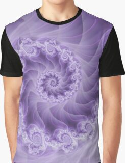Silky Purple Spiral Fractal Graphic T-Shirt