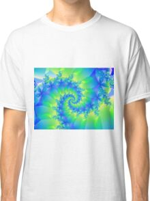 Psychedelic Colorful Spiral Fractal Classic T-Shirt