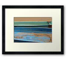 Fishing boats, Mamallapram, India Framed Print