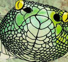 snake in green Sticker
