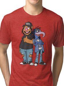 Fozzy & Gonzo - Waynes World Tri-blend T-Shirt