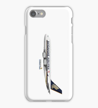 Illustration of Singapore Airlines Airbus A380  iPhone Case/Skin