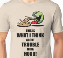 This Is What I Think About Trouble In Da Hood! (Emoticon Smiley Meme) Unisex T-Shirt