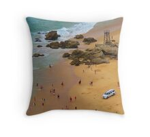Redhead Beach  Throw Pillow