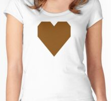 Chocolate  Women's Fitted Scoop T-Shirt