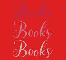 Books Books Books  in pink Baby Tee