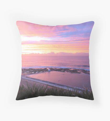 Sunrise over Merewether Ocean Baths Throw Pillow