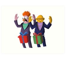 Beaker & Dr Bunsen - Dick in a box Art Print
