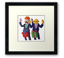 Beaker & Dr Bunsen - Dick in a box Framed Print