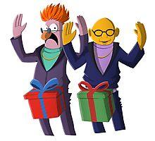 Beaker & Dr Bunsen - Dick in a box Photographic Print