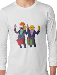 Beaker & Dr Bunsen - Dick in a box Long Sleeve T-Shirt