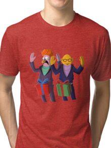 Beaker & Dr Bunsen - Dick in a box Tri-blend T-Shirt