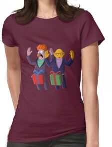 Beaker & Dr Bunsen - Dick in a box Womens Fitted T-Shirt