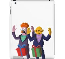 Beaker & Dr Bunsen - Dick in a box iPad Case/Skin