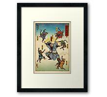 You vs The five mind monkeys Framed Print