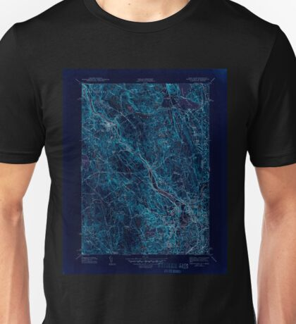 USGS TOPO Map Rhode Island RI Pawtucket 353437 1944 31680 Inverted Unisex T-Shirt