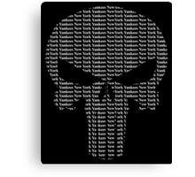 New York Yankees Punisher Logo Canvas Print