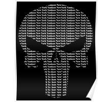 New York Yankees Punisher Logo Poster